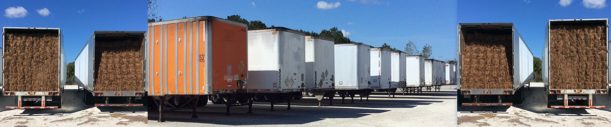 Wholesale Pine Straw Delivery Trucks